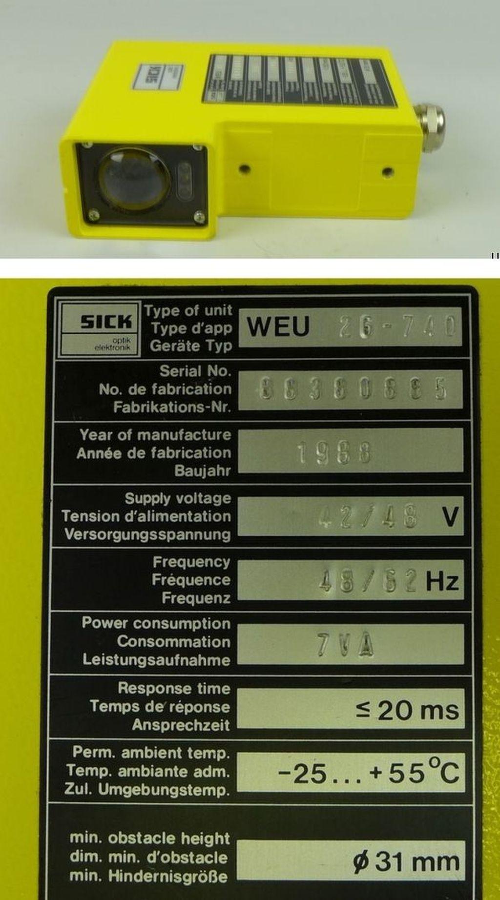 photoelectric switch WEU 26-740 42//48V AC Sick Lichtschranke