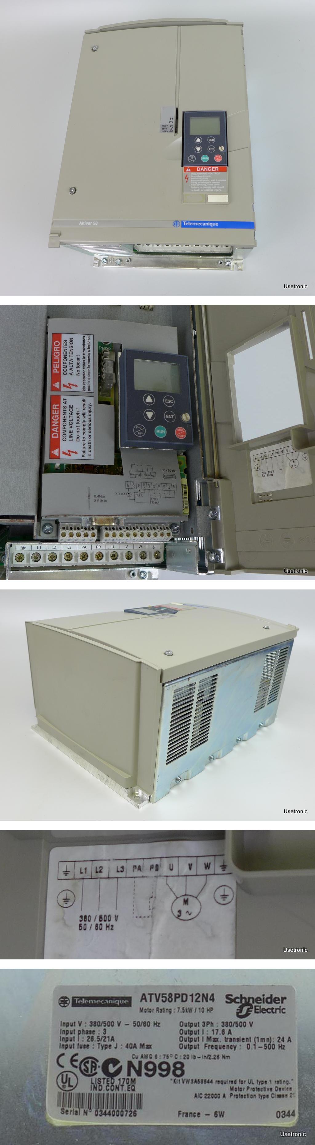 Telemecanique ATV58PD12N4