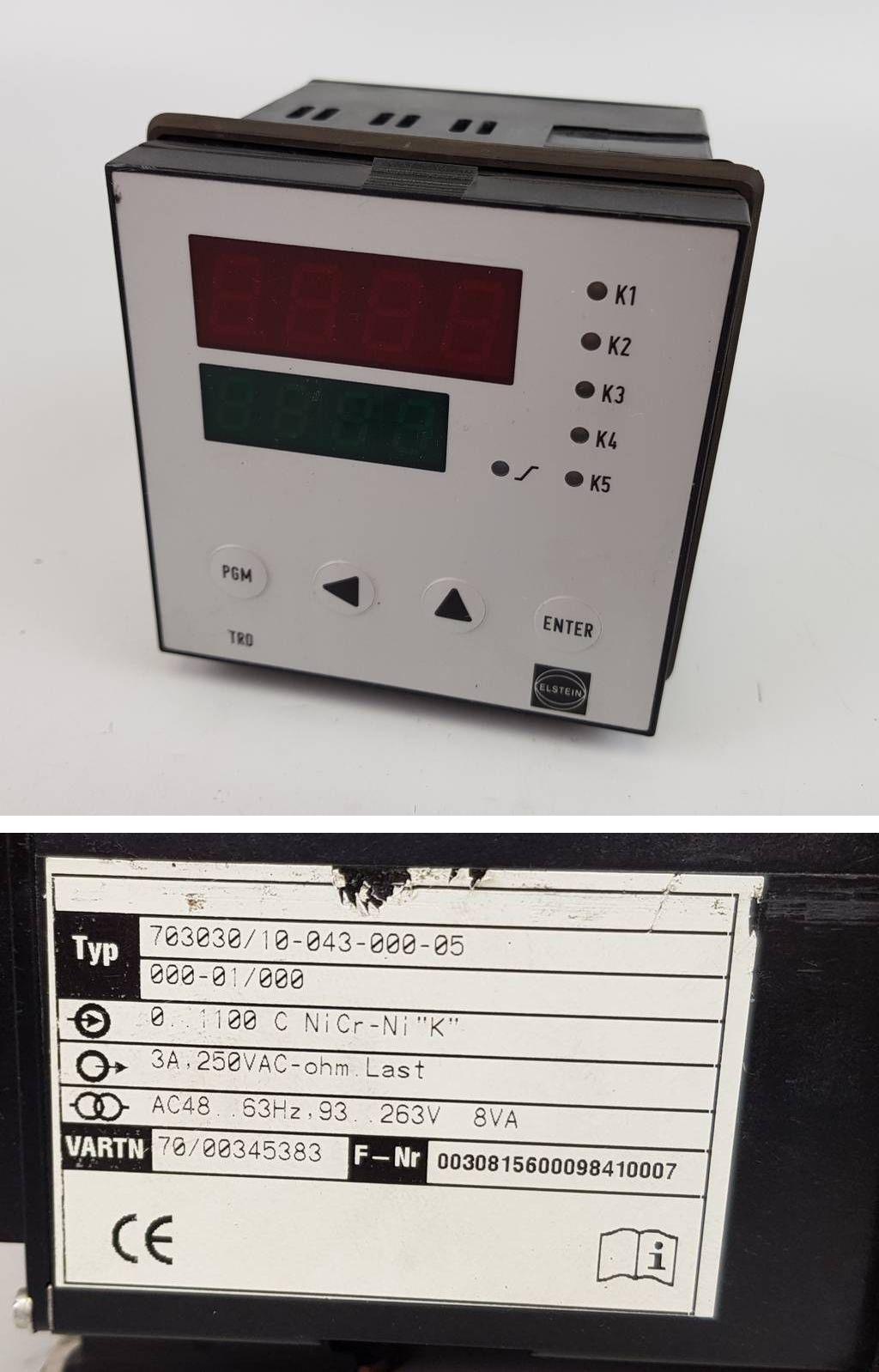 AC 230V guter Zustand TE-1W0 elektronischer Temperaturregler Typ Jumo TE1
