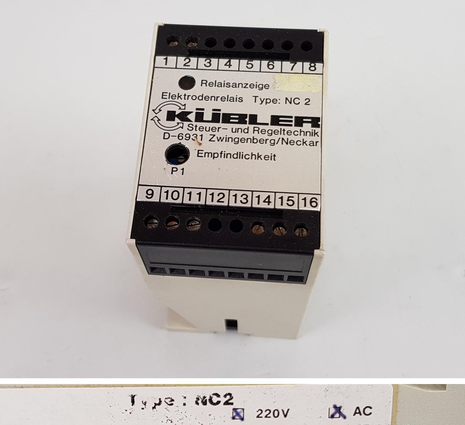 Pp5832 électrodes relais niveau contrôleur Kübler nc2 220 V AC