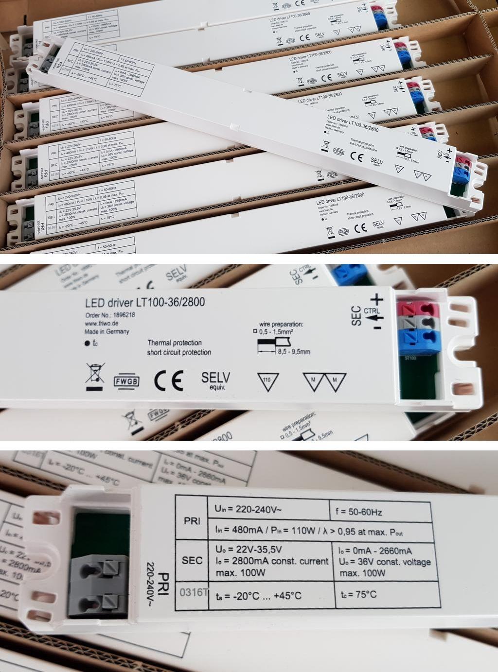 Friwo LED driver LT100-36/2800