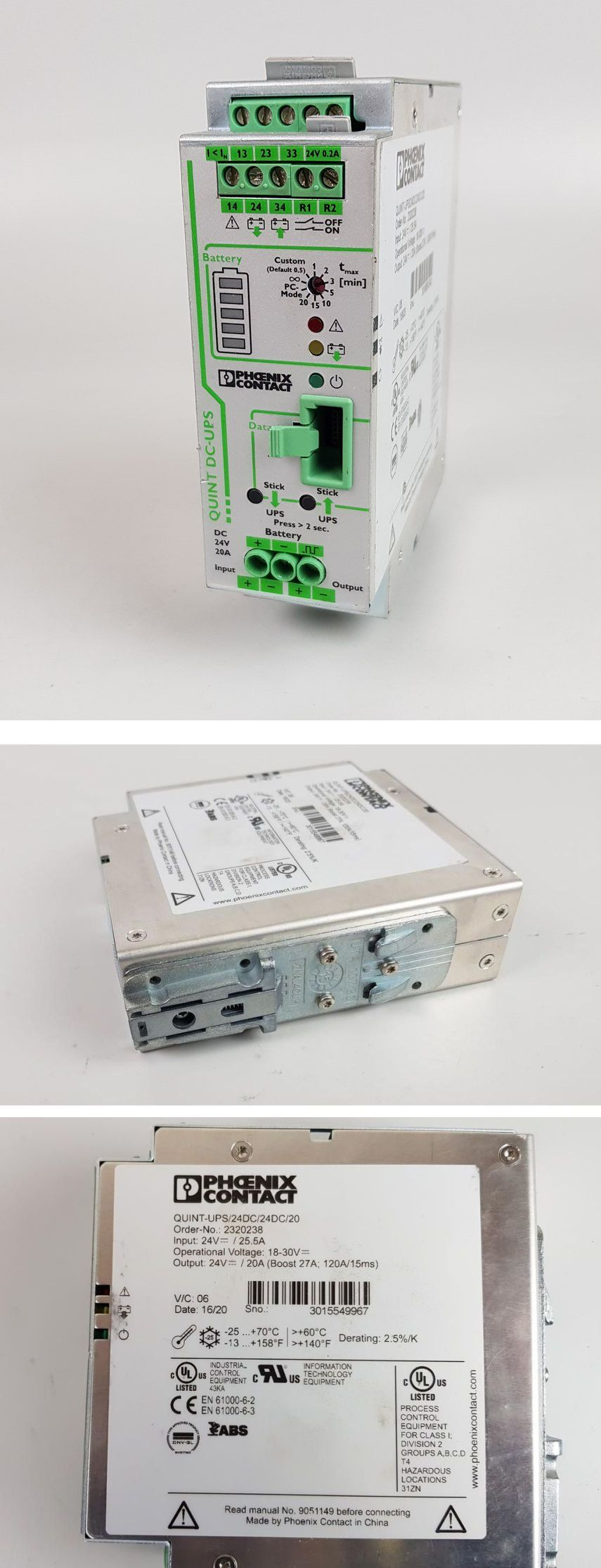 PP6941 USV Phoenix Contact Quint-Ups/24dc/24dc/20 2320238
