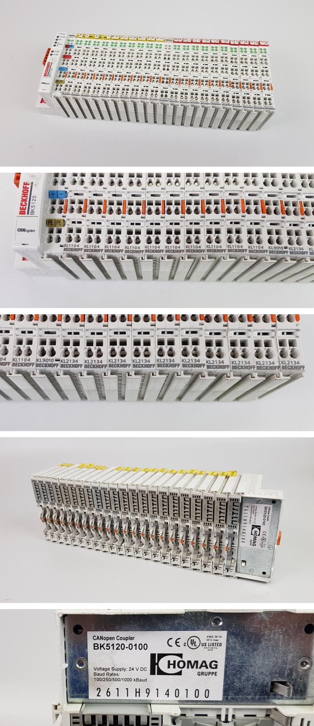 PP7123 Posten 22 Stück Module Beckhoff BK5120 KL1104 KL9010 KL2134
