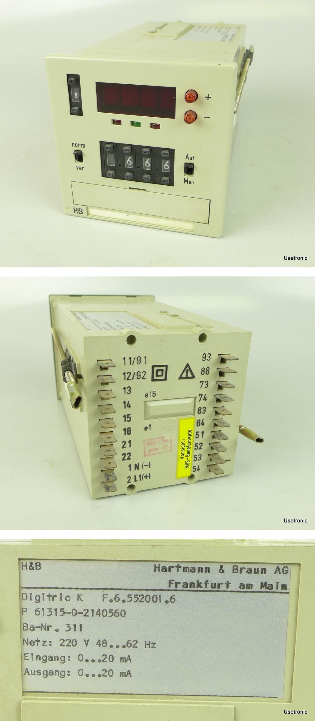 Hartmann Braun Digitric K 61315