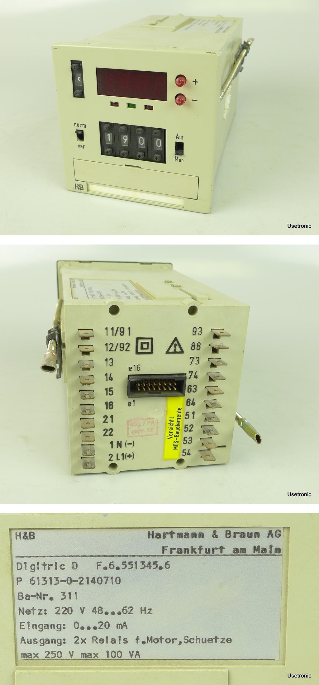 Hartmann Braun Digitric D 61313