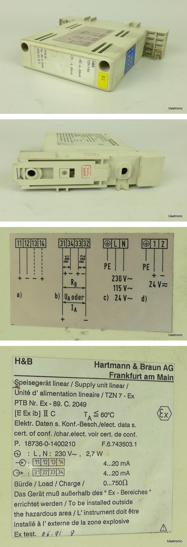 Hartmann Braun Speisegerät TZN 7