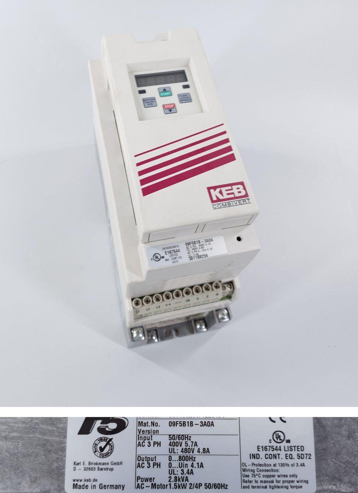 PP618 Servoregler KEB F5 Combivert E2F5SBD 325C e2sm00x-24x0
