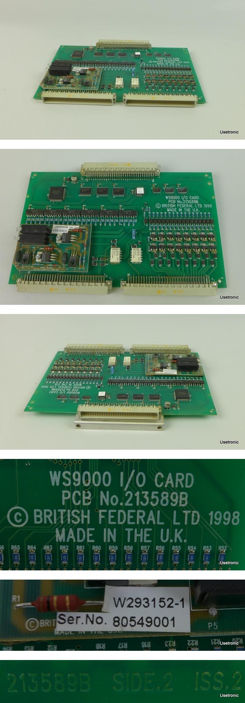 British Federal WS9000 I/O Card PCB 213589B