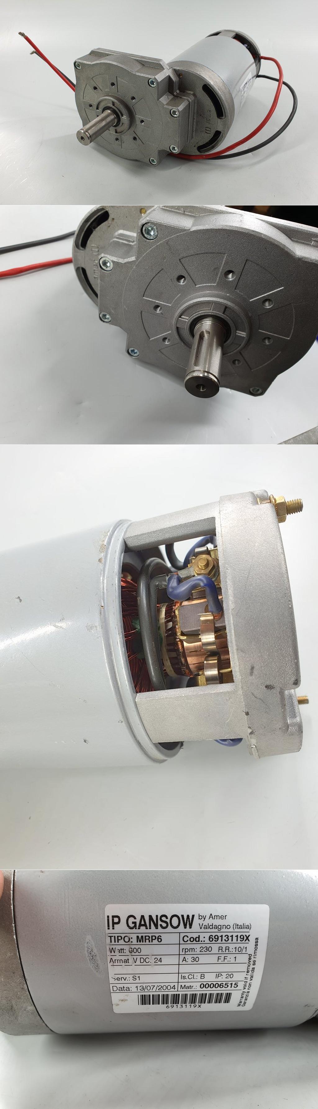 PQ174 Gleichstrommoter Getriebe Gansow MRP6 24V DC 600W 230U min